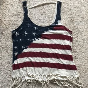 American Flag (Fourth of July) Fringe Tank